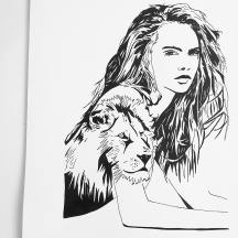 """Cara Delevingne & Lion Too Creative Style"""